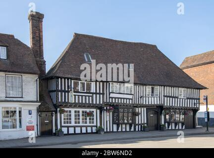 traditional building on the high street in tenterden kent - Stock Photo