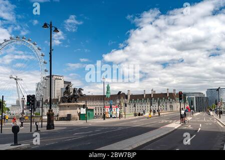 London Lock-down summer 2020 - Stock Photo