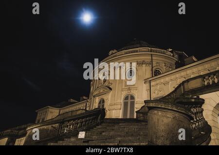 Schloss Solitude in Stuttgart, Deutschland, Baden-Wuerttemberg bei Nacht - Stock Photo