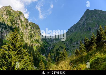 View from Valea Rea (Bad Valley), Fagaras Mountain - Stock Photo