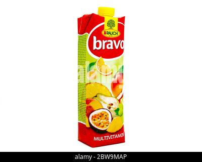 Bravo Multivitamin Juice Fruit produced by RAUCH - Stock Photo