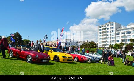 Magnificent Motors, an annual classic car and motoring event on Eastbourne Seafront, East Sussex, UK - Stock Photo
