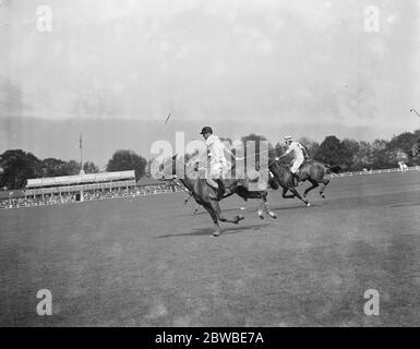 Polo at The Hurlingham Club , London - Hurlingham V Argentine 24 May 1926 - Stock Photo