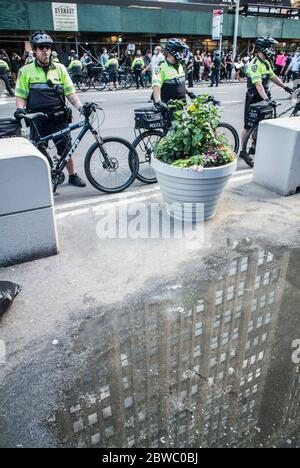 New York, New York, USA. 30th May, 2020. Black Lives Matter protest. Police during the protest. Credit: Billy Tompkins/ZUMA Wire/Alamy Live News - Stock Photo