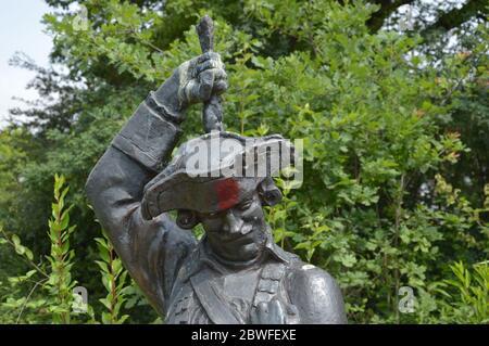 Munchausen monument in Bodenwerder, Germany