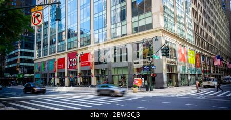 The JCPenney store in Herald Square in Midtown in New York on Tuesday, May 25, 2020.  (©Richard B. Levine) - Stock Photo