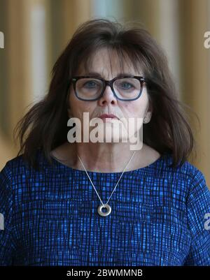 Health Secretary Jeane Freeman MSP arrives in the debating chamber of the Scottish Parliament in Edinburgh. Picture date: Tuesday June 2, 2020. See PA story HEALTH Coronavirus Scotland. Photo credit should read: Fraser Bremner/Scottish Daily Mail/PA Wire