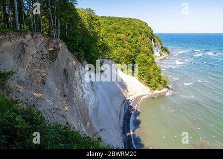 The chalk coast of Rügen on the Baltic Sea
