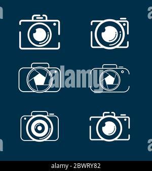 Camera icons set for photographers. Photography camera icon set vector eps - Stock Photo