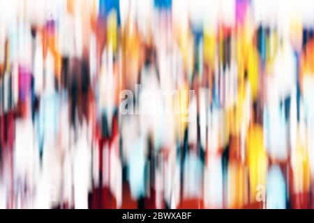 Abstract Colorful Motion Blurred Background. - Stock Photo