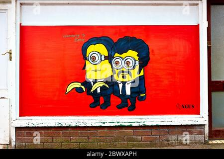 Pulp Fiction Wall Mural in Bristol, UK, England