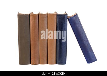 collection of books isolated on white background - Stock Photo