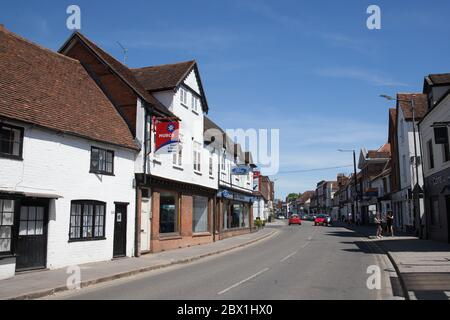 West Street in Marlow town centre in Buckinghamshire in the UK - Stock Photo