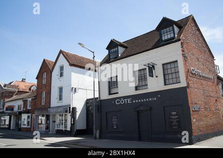 The Cote French Restaurant in Marlow in Buckinghamshire, UK - Stock Photo