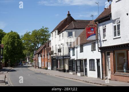 Views of West Street in Marlow, Buckinghamshire, UK - Stock Photo