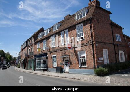 Business premises in Marlow, Buckinghamshire in the UK - Stock Photo