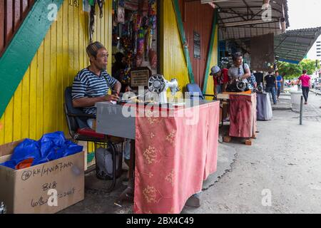 Kota Kinabalu Sabah, Malaysia - May 15, 2017 : Scene at Handicraft market or well known as Filipino Market. A very popular market to buy Sabah's Pearl - Stock Photo