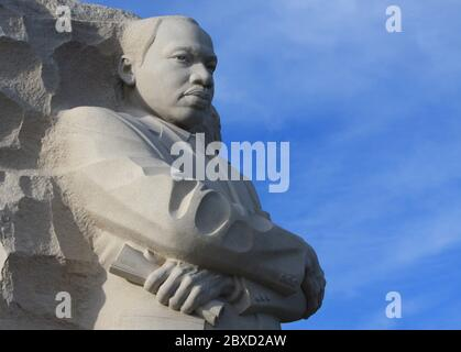 Detail of the Martin Luther King Jr. monument in Washington, D.C. - Stock Photo