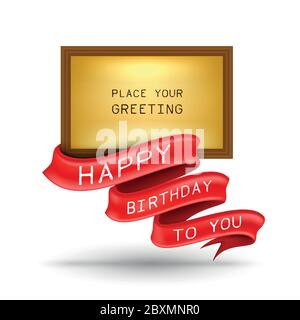 Happy birthday greeting card. Vector illustration can use for printing and web banner. - Stock Photo