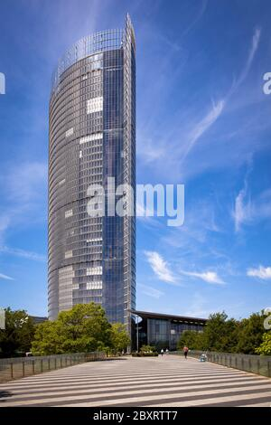 the Post Tower, headquarters of the logistics company Deutsche Post DHL Group, Bonn, North Rhine-Westphalia, Germany.  der Post Tower, Zentrale des Lo Stock Photo