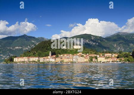 Famous cityscape of Bellagio at Lake Como, Lombardy, Italy - Stock Photo