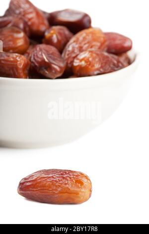 Dates in a bowl - Stock Photo