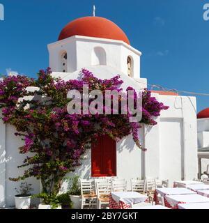 A little church on Mykonos island in Greece