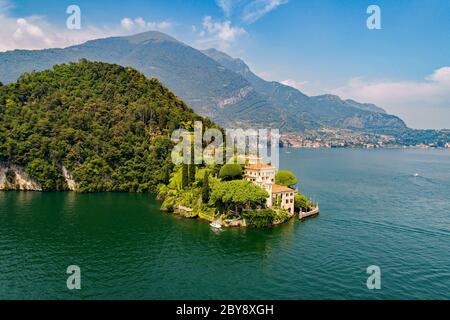 Villa del Balbianello (1787) - Lavedo - Lenno - Lake Como (IT) - Aerial View