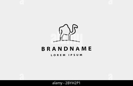 camel Simple Logo Icon vector design illustration - Stock Photo