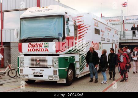 Castrol Honda Racing, Transportation Truck, Assen 1996 - Stock Photo