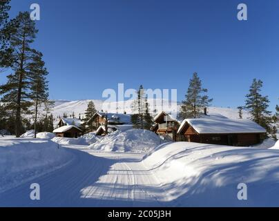 Levi, ski resort in finland - Stock Photo