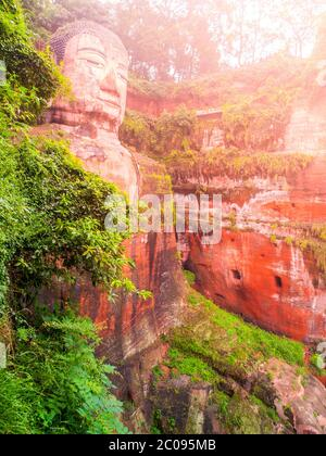 Giant Buddha, Dafo, in Leshan, Sichuan Province in China Stock Photo