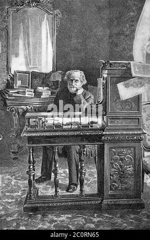GIUSEPPE VERDI (1813-1901) Italian operatic composer Stock Photo