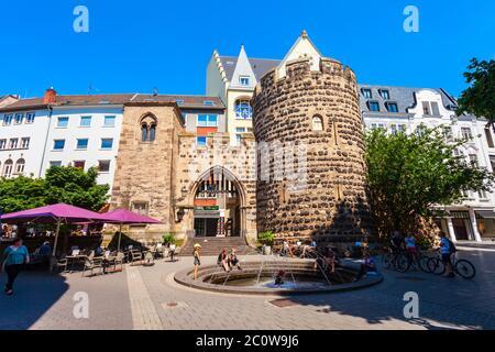 BONN, GERMANY - JUNE 29, 2018: Sterntor or star gate tower in Bonn city, Germany
