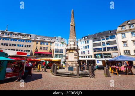 BONN, GERMANY - JUNE 29, 2018: Market square in the centre of Bonn city in Germany