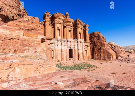 Petra, Jordan. Al-Khazneh (The Treasury) in Petra, the capital of the ancient Nabatean Kingdom.