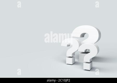 question marks on background - Stock Photo