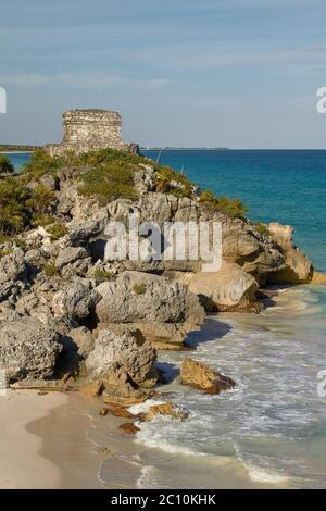 God of Winds Temple in Tulum Mexico - Stock Photo