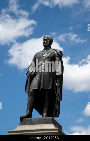 Trafalgar Square, London. Statue of Major General Sir Henry Havelock, British army soldier,