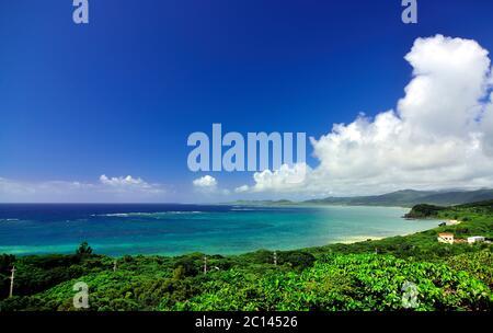View, From Tamatorizaki Observation Platform, Ishigaki, Yahema Islands, Okinawa, Japan