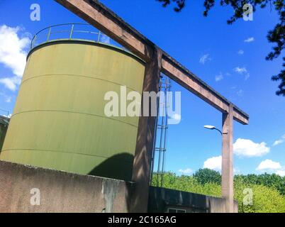Old industrial settlement, Bron, France - Stock Photo