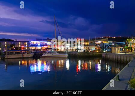 The Knysna Waterfront at Dusk, South Africa. Knysna is a town in the Western Cape Province of South Africa and is part of the Garden Route