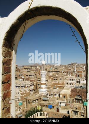 Sanaa old city, Yemen - Stock Photo