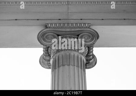 Vintage Old Justice Courthouse Column - Stock Photo