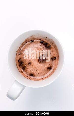 Complete protein Hot Chocolate Powder - Stock Photo