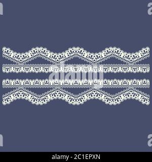 lace border pattern for boutique fashion or abstract concept. vector illustration - Stock Photo