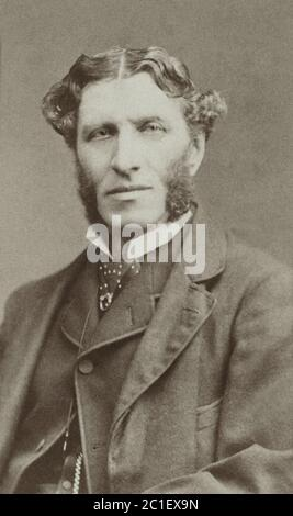 Matthew Arnold (1822 – 1888) was an English poet and cultural critic who worked as an inspector of schools. He was the son of Thomas Arnold, the celeb - Stock Photo