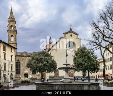 Piazza Santo Spirito, Florence, Italy