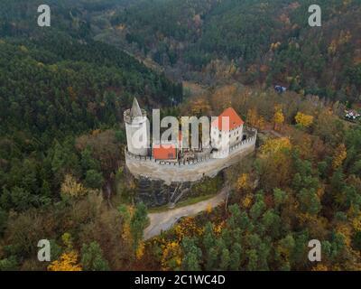 Castle Kokorin in Czech Republic - aerial view