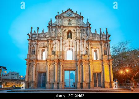 Ruins of St. Paul's the famous place in Macao, China